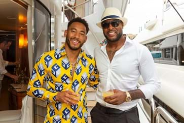 Josh Denzel and Wes Morgan enjoying Monaco Grand Prix Yacht Hospitality