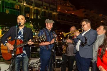 Live music at Monaco GP Yacht Party