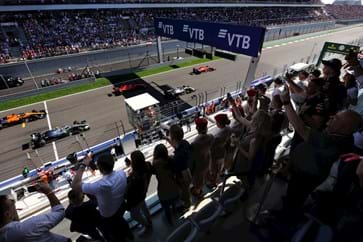 Hospitality Views at the Russian Grand Prix