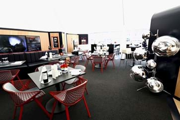 Red Bull Paddock Club Team Suite Interior